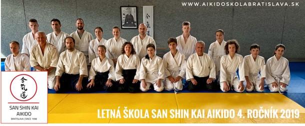 Letná škola San shin kai aikido  4. ročník 2019
