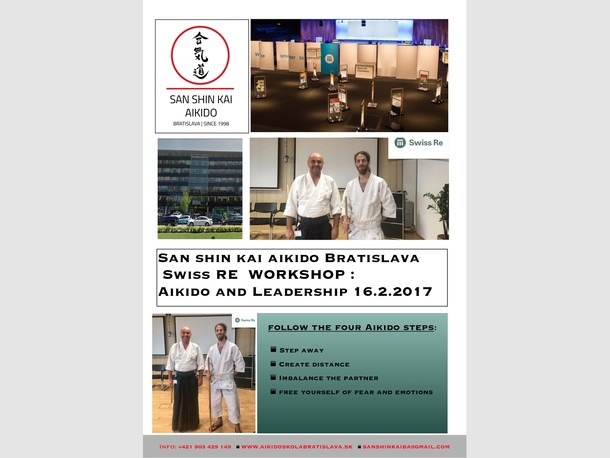 WORKSHOP : San shin kai aikido bratislava  for Swiss RE   :  Aikido and Leadership 14-16.2.2017